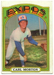 1972 Topps Baseball Cards      134     Carl Morton